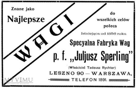 JULIUSZ SPERLING TRZY KILOWY