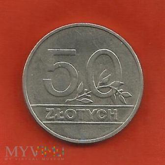 Polska 50 złotych, 1990