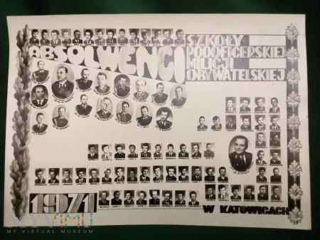 Duże zdjęcie TABLO ABSOLWENTÓW SZKOŁY PODOFICERÓW MO. 1971 ROK