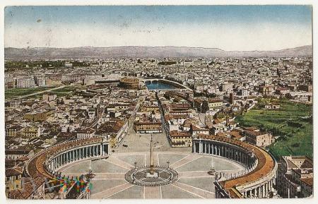Roma-Panorama della cupota di S.Pietro.1925.a