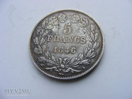 5 FRANKÓW -1846 A
