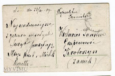 1927 Święty Mikołaj lub Knecht Rupprecht pomocnik