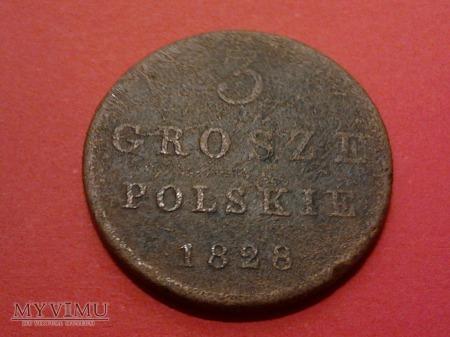 3 grosze polskie 1828 r.