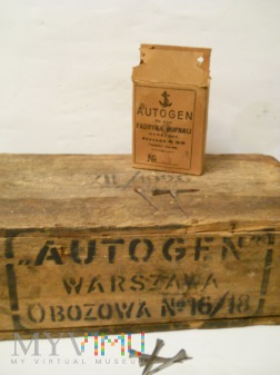 "Skrzynka na Hufnale ,,Autogen"" 1926'"