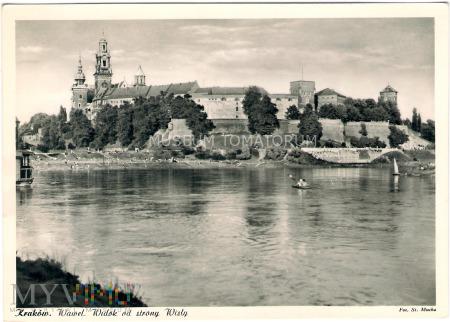 Kraków - Wawel od strony Wisły - 1950