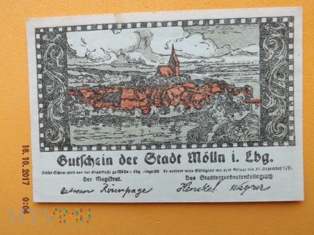 Notgeld - Mölln - 50 Pfennig 1921r.