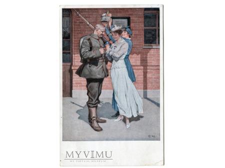 Brynolf Wennerberg żołnierz Przed odjazdem 1916