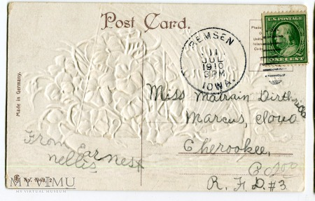1910 USA Statek Wielu Szczęśliwych Powrotów Bratki