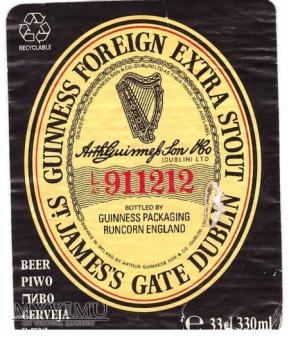 Etykieta Browaru Dublin