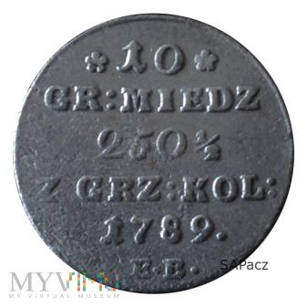 1789 ODMIANA 18.c1? (NIE NOTOWANA, WĄSKI CIOŁEK)