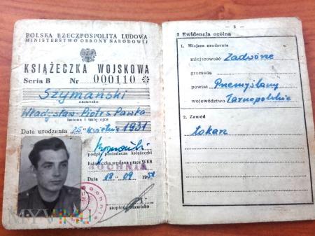 Książeczka Wojskowa PRL 1958 rok.