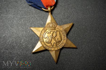 Medal Brytyjski - Gwiazda Za Wojnę 1939-45