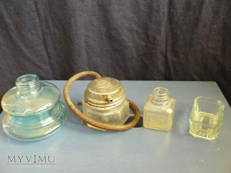 Szklane różności domowe- kałamarz i inne