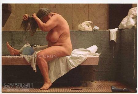 Kozyra - Łaźnia Kobieta czesząca włosy po kąpieli