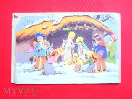 Duże zdjęcie Francuska pocztówka świąteczna