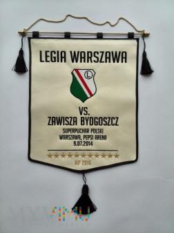 Proporzec Legia Warszawa-Zawisza Bydgoszcz 2014