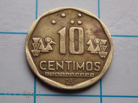 10 CENTIMÓW 1995 - PERU