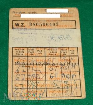 1987 rok dowód wydania kartek żywnościowych G-I