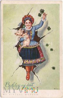 Świnka Noworoczna - lata 30-te