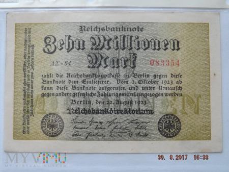 Zehn Milionen Mark - 1923r.