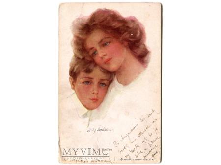 Philip Boileau Chums przyjaciele pocztówka 1913