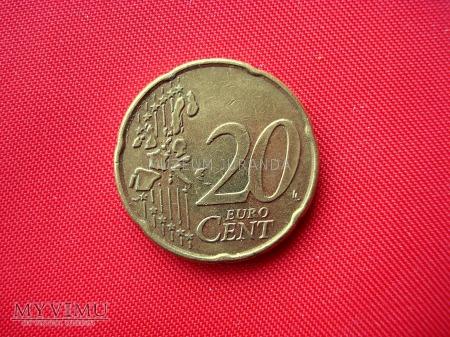 20 euro centów - Belgia