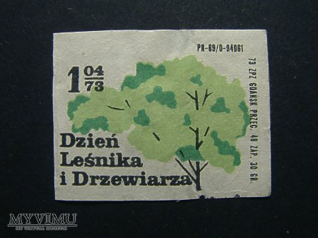 Etykieta - Dzień Leśnika i Drzewiarza
