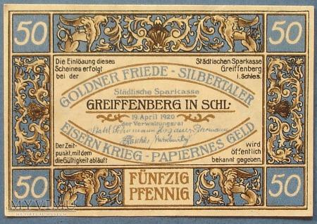 50 Pfennig 1920 r - Greiffenberg Schl.- Gryfow Sl