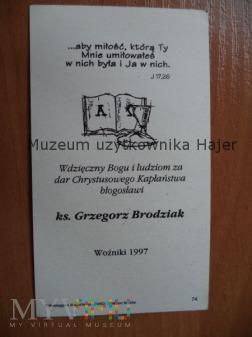 Brodziak Grzegorz ksiądz Woźniki 1997