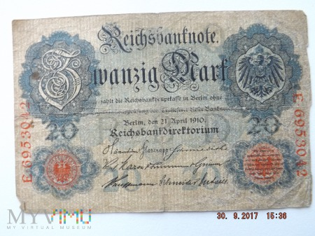Zwanzig Mark - 20 Mark 1910r.