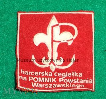 Cegiełka Harcerska Pomnik Powstania Warszawskiego