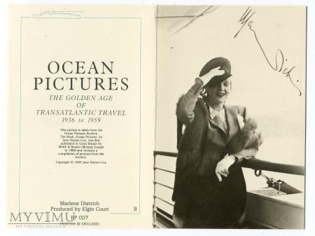 Marlene Dietrich rejs statkiem Ocean Picutres 1989