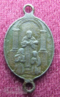 Fragment starego różańca lub medalik