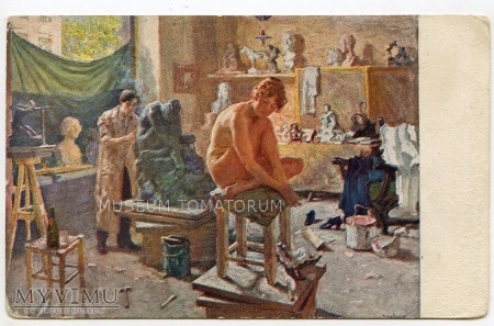 Lachowskij - W pracowni rzeźbiarza - Atelier 1917