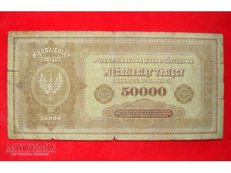 50.000 marek polskich 1922 rok