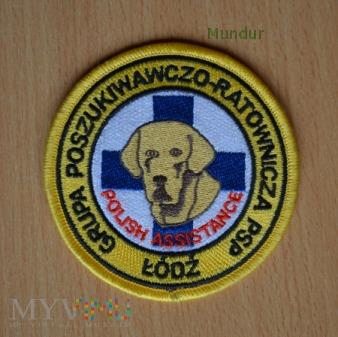 Emblemat przewodnika psa GPR PSP Łódź
