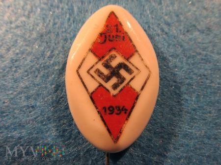 Porcelanowa odznaka HJ