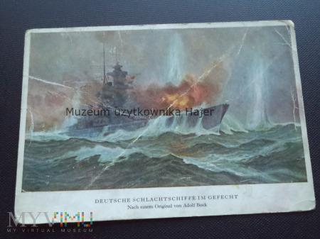 Deutsche Schlachtschiffe im Gefecht Kriegsmarine
