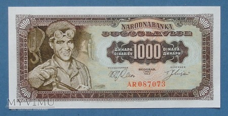 1000 Dinarow 1963 - Jugoslawia