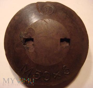 Bakelitowa zaślepka pocisku artyleryjskiego 10,5cm