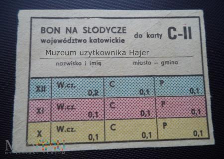 Bon na słodycze do kart C-II woj. katowickie