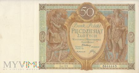 Banknot 50 złotych 1929 rok, Warszawa