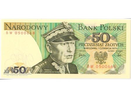 50 złotych 1979 rok seria BW