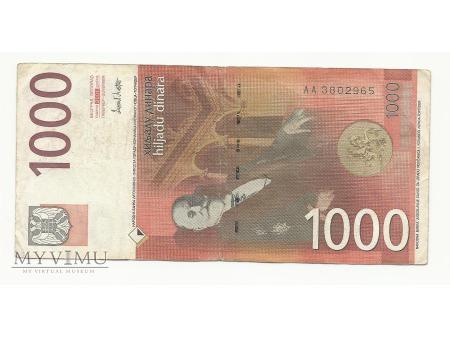 tysąc dinarów