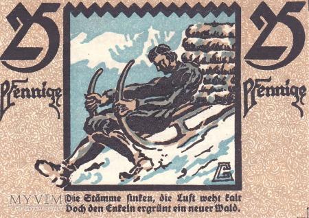 Notgeld 25 Pfg. Hirschberg, Friedeberg a. Qu.