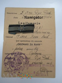 """"""" Odznaka za rany """" -17 Lwowski Batalion Strzelcow"""