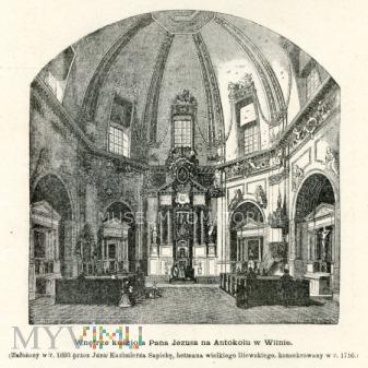 Wilno - wnętrze kościoła Pana Jezusa na Antokolu