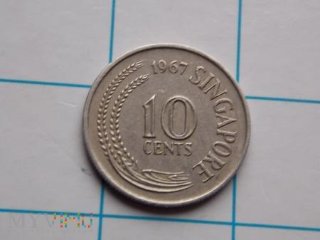 10 CENTÓW 1967 - SINGAPUR