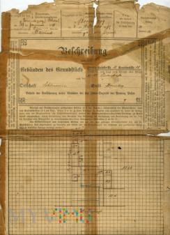 Dokument - opis nieruchomości 1891