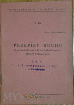 1973 - R 1a Przepisy ruchu na liniach Przenowobud.